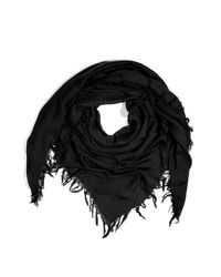 Balmain - Black Embroidered Cotton and Silk-blend Scarf for Men - Lyst