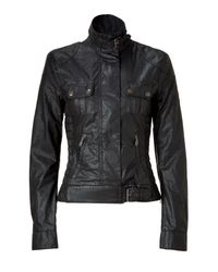 Belstaff | Black-brown Coasted New Gangster Jacket | Lyst