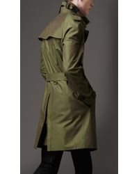 Burberry | Green Classic Cotton Trench Coat for Men | Lyst