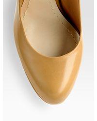 Dior | Gold Miss Leather Platform Pumps | Lyst