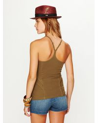 Free People | Green Sweet N Salty Rib Tank | Lyst