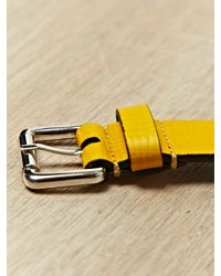 Jil Sander | Yellow Mens Belt for Men | Lyst