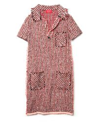 Lanvin | Red Tweed Dress | Lyst