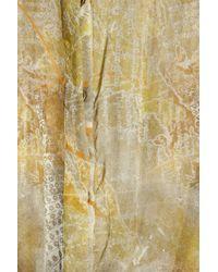 Matthew Williamson   Green Zodiac Printed silk-chiffon jumpsuit   Lyst