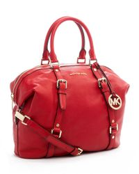 Michael Kors | Red Large Bedford Bowling Satchel | Lyst
