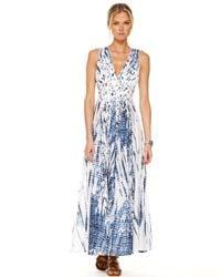 Michael Kors | Blue Fringe Weave Maxi Dress | Lyst