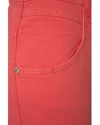 TOPSHOP - Pink High Waisted Kristen Jeans - Lyst