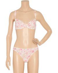 Nina Ricci - Pink Printed Thong - Lyst