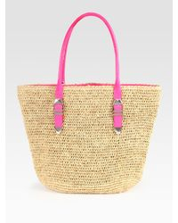 Rebecca Minkoff | Natural Raffia & Leather Boyfriend Beach Tote | Lyst