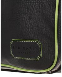 Ted Baker - Black Piping Messenger Bag for Men - Lyst