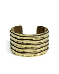 DANNIJO | Gold Oxidized Brass Plated Talum Cuff | Lyst