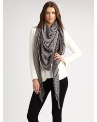 Gucci | Gray GG Pattern Scarf | Lyst