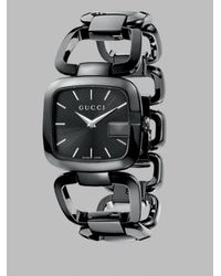 Gucci | Black G Steel Link Bracelet Watch | Lyst