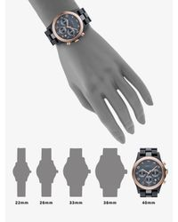 Marc By Marc Jacobs | Metallic Gray & Rose Gold Ion Plated Chronograph Watch | Lyst