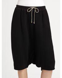 Rick Owens | Black Cashmere Box Pod Shorts | Lyst
