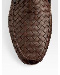 Bottega Veneta | Brown Leather Slippers for Men | Lyst