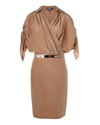 Ferragamo | Brown Sugar Silk Dress | Lyst