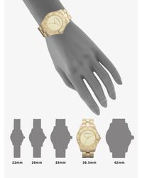 Marc By Marc Jacobs - Metallic Gold-finished Stainless Steel Bracelet Watch - Lyst