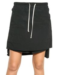 Rick Owens | Black Cotton Stretch Poplin Skirt/ Shorts | Lyst