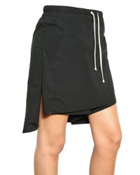 Rick Owens - Black Cotton Stretch Poplin Skirt/ Shorts - Lyst