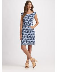 Acne Studios | Blue Betty Print Dress | Lyst