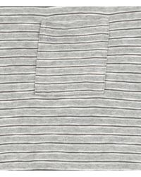 AllSaints - Gray Roots Cut Collar Crew T-shirt for Men - Lyst