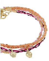 ASOS Collection - Multicolor Asos Pack Of Three Skull Friendship Bracelets - Lyst