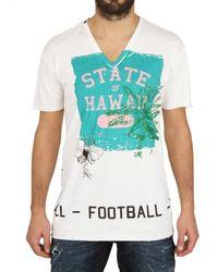 Dolce & Gabbana - White Hawaii Print T-shirt for Men - Lyst