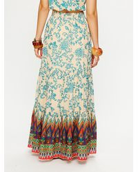 Free People - Blue Tropicale Maxi Skirt - Lyst
