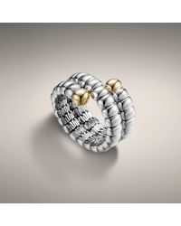 John Hardy | Metallic Double Coil Ring | Lyst
