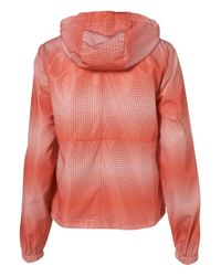 TOPSHOP - Red Ombre Spot Pac-A-Parka - Lyst