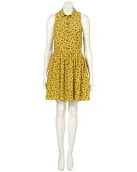 TOPSHOP | Yellow Daisy Dogs Shirtdress | Lyst