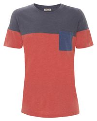 Folk | Blue Colour Block Pocket T-shirt for Men | Lyst