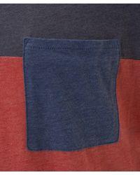 Folk   Blue Colour Block Pocket T-shirt for Men   Lyst