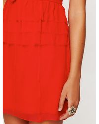 Free People - Red La Boheme Ruffle Dress - Lyst