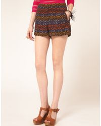 Free People | Multicolor Mexican Print Shorts | Lyst