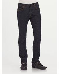 J Brand | Blue Kane Slim Straight-leg Jeans/raw for Men | Lyst