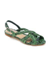 Loeffler Randall | Green Filippa Mignon Flat Sandal | Lyst