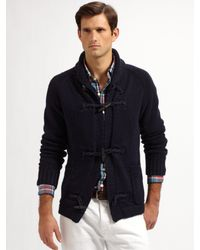 Polo Ralph Lauren | Blue Toggle Shawl-collar Cardigan for Men | Lyst