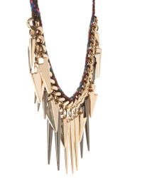 ASOS - Multicolor Multi Arrow Spike Necklace - Lyst