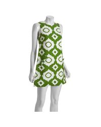 Shoshanna | Green Sleeveless Ikat Dress | Lyst