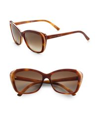 Alexander McQueen - Brown Oversized Cateye Sunglasses - Lyst