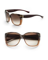 Balenciaga - Black Oversized Cat Eye Sunglasses - Lyst