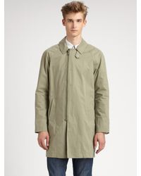 Band of Outsiders | Green Cotton Trench Coat for Men | Lyst