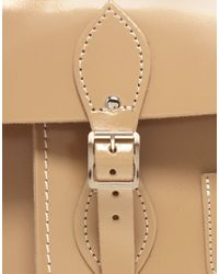 Cambridge Satchel Company - Natural Exclusive To Asos 15 Mink Patent Batchel - Lyst