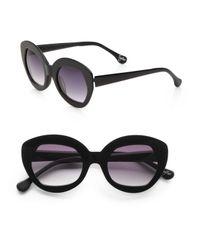 Elizabeth and James | Yellow Taylor Plastic Cateye Sunglasses | Lyst