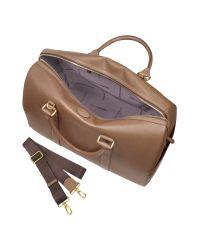 Giordano Frangipani - Brown Saffiano Calfskin Travel Bag for Men - Lyst