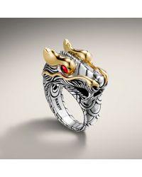 John Hardy - Metallic Dragon Head Ring - Lyst