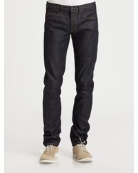 McQ | Blue Skinny Raw Denim Jeans for Men | Lyst