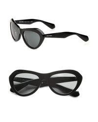 Miu Miu - Black Cateye Plastic Sunglasses - Lyst